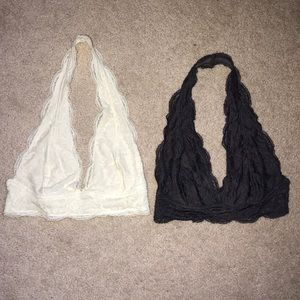 2 Out From Under Lace Halter Bras